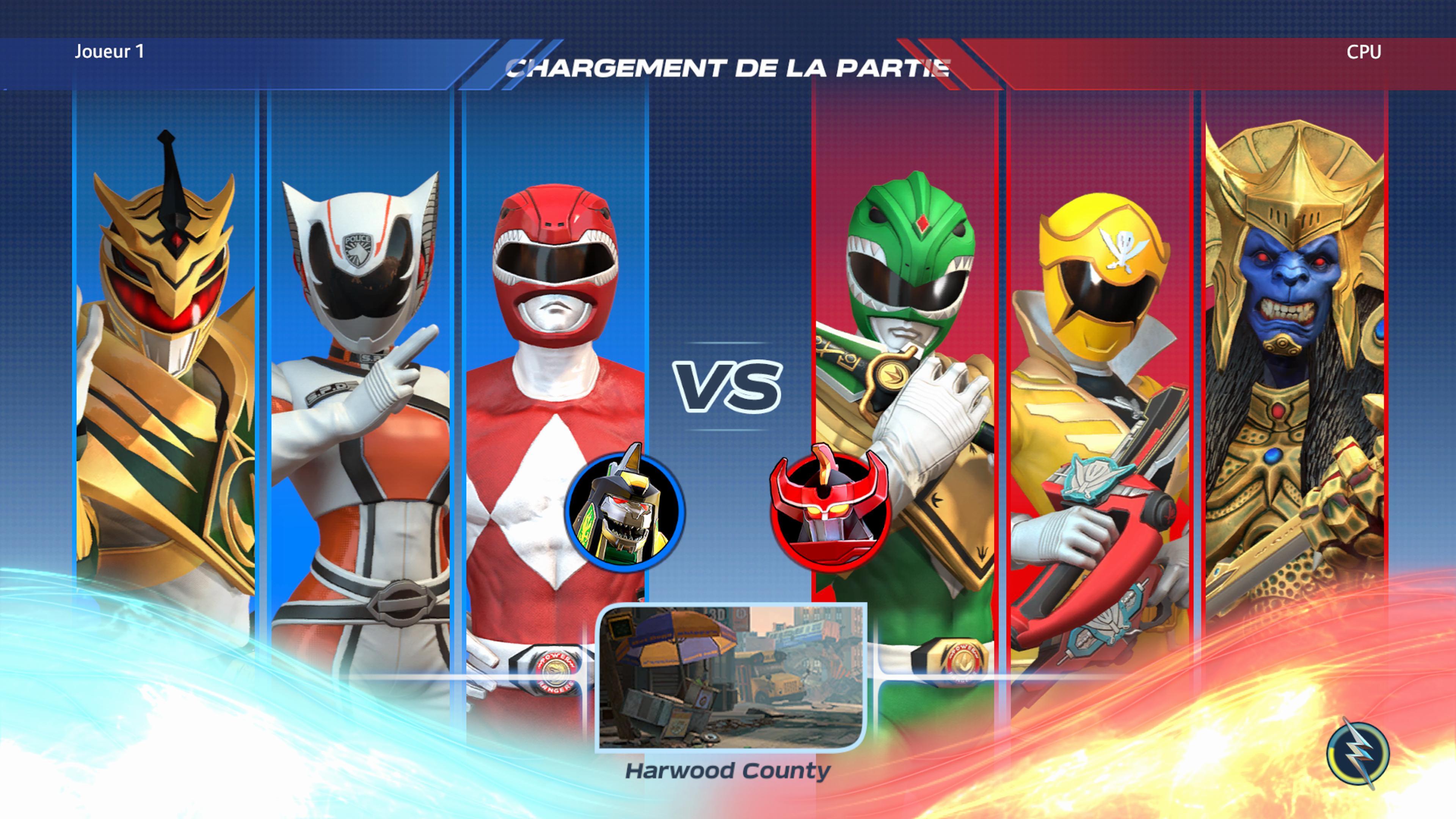 Sélectionnez vos 3 rangers préférés dans Power Rangers: Battle for the Grid