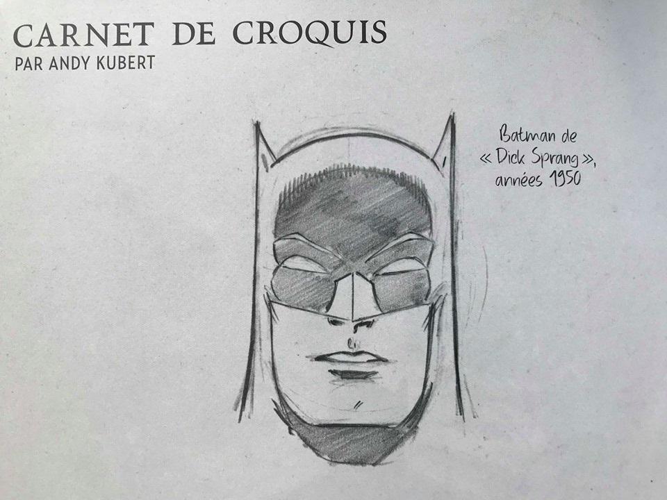 Crayonné de Batman par Andy Kupert