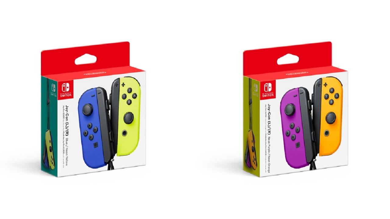 De nouvelles couleurs de Joy-Con pour la Switch arrivent chez Nintendo