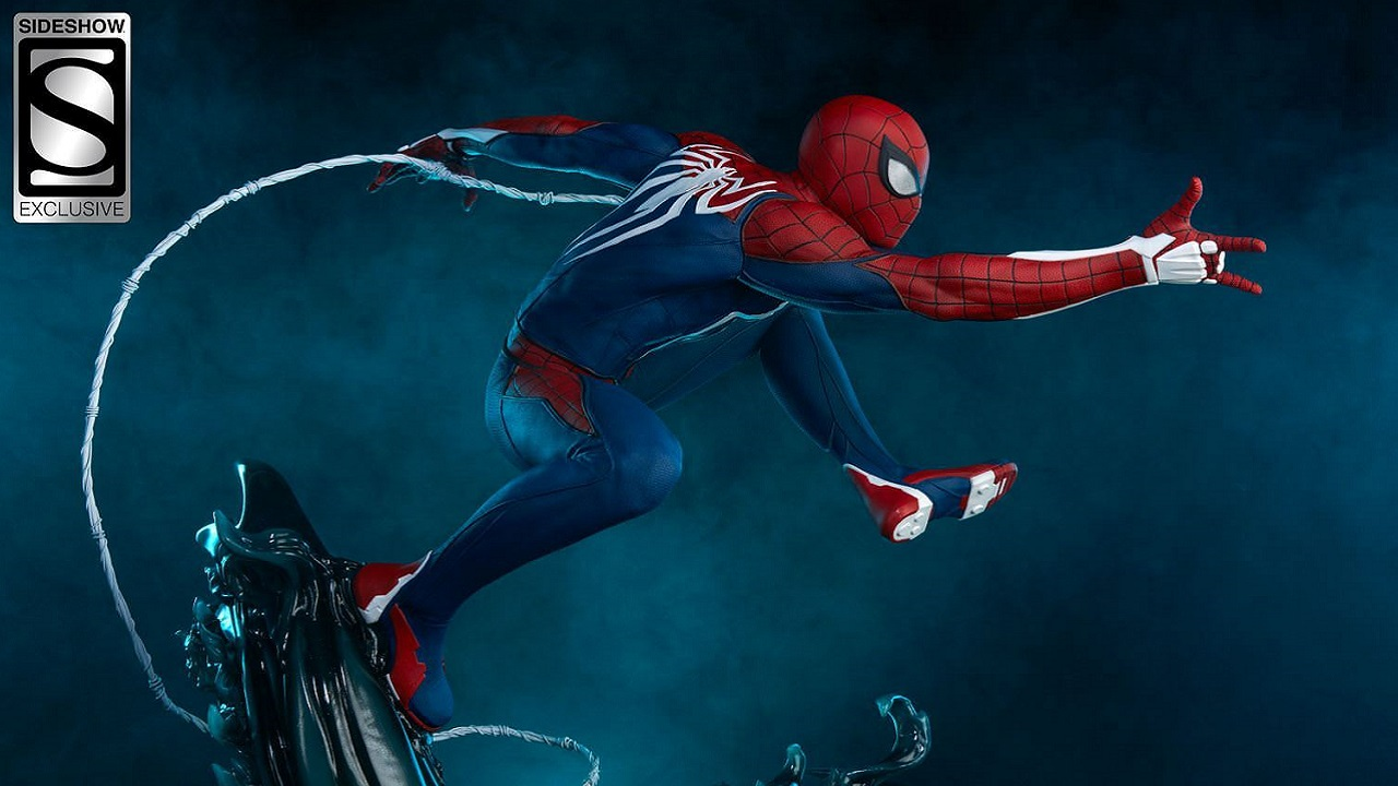 Sideshow et PCS collectibles annoncent une statuette Marvel's spider-man d'insomniac games