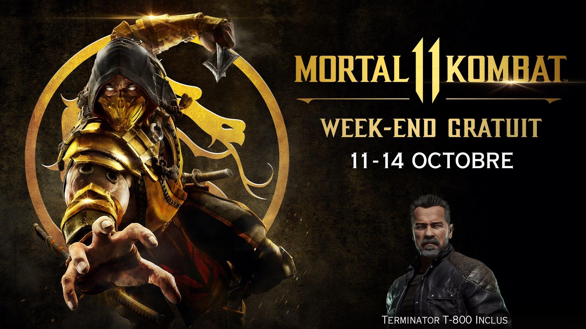 Mortal Kombat 11 sera disponible gratuitement ce week-end