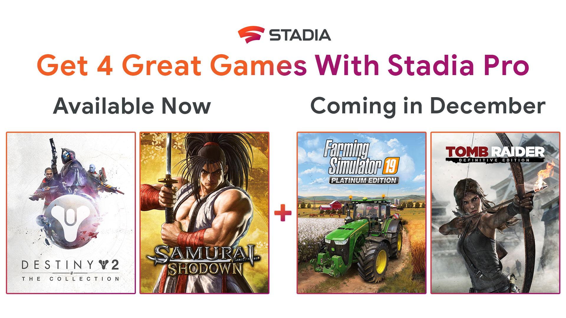 Google Stadia offre deux jeux supplémentaires aux membres Pro